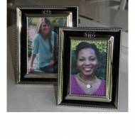 Monogrammed 5 By 7  Silver Picture Frame