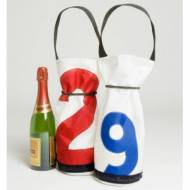 Ella Vickers Sailcloth Wine Bag With Oversized Personalization