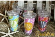 Monogrammed Tumblers By Claireblla