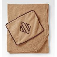 Monogrammed Cashmere Travel Throw