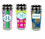 Monogrammed Stainless Steel Travel Tumbler