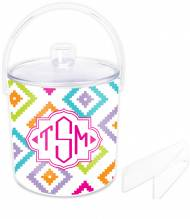 Monogrammed Lucite Ice Bucket With Changeable Inserts