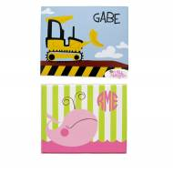 Personalized Child's Canvas Prints In Ten Designs
