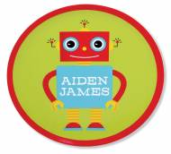 Personalized Child's Melamine Plate In Fourteen Designs