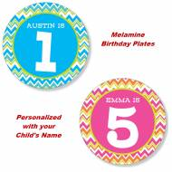 Personalized Child's Melamine Birthday Plate