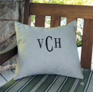 Monogrammed Pillow Or Cover Available In Ten Patterns Or Linen