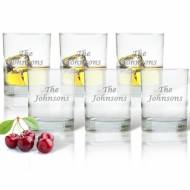 Carved Solutions Personalized Glass Old Fashioned Set Of 6