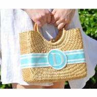 Queen Bea Monogrammed Mini Becky Florida Basket