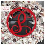 Acrylic Single Initial Wall Monogram With Border