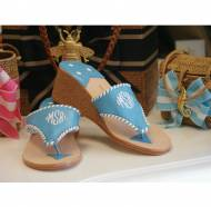 Palm Beach Monogram Sandal In 2 Inch Wedge