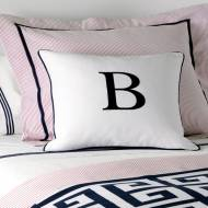 Monogrammed Single Letter Pillow From Matouk