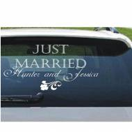 Wedding Monogram Just Married Decal For Car Or Home