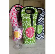 Monogrammed Wine Totes From Clairebella- Single Bottle And Double ...