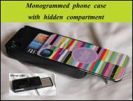 Monogrammed IPhone Case With Hidden Compartment