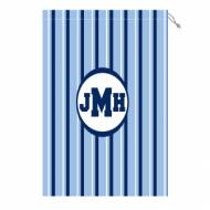 Monogram Laundry Bag With Blue And White Stripes