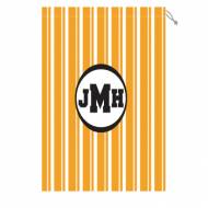 Monogram Laundry Bag With Clemson Orange And White Stripes
