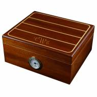 Monogrammed Walnut Humidor With White Trim