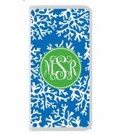 Monogrammed Iphone 5 White Wallet Case