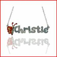 Child's Butterfly Name Necklace In Sterling Silver