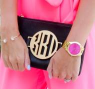 Black Leather Crossbody With Interchangeable Monogram