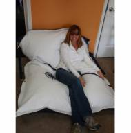Ella Vickers Jumbo Bean Bag Chair Lounge With Navy Star Insignia