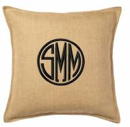 Monogrammed Burlap Pillow From The Pink Monogram