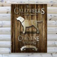 Monogrammed Rustic Wood Cabin Canvas Print In Nine Designs