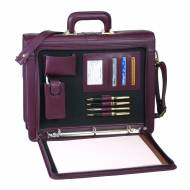 Monogrammed Executive Leather Legal Briefcase