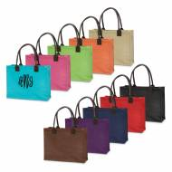 Monogammed Jute Market Tote In Many Colors