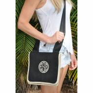 Queen Bea Monogrammed Small Canvas Cross Body Bag