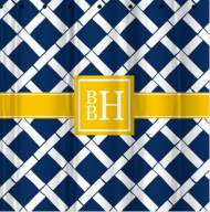 Monogrammed Shower Curtain All Patterns Plus Greek Letters