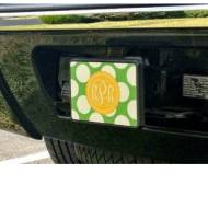 Monogrammed Car Hitch In Preppy Patterns And Greek Letters Too