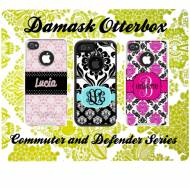 Customized Damask OtterBox Cases For IPhone And Galaxy