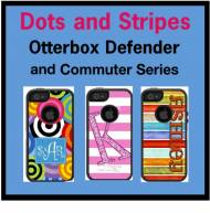 Customized Dots And Stripes OtterBox Cases For IPhone And Galaxy