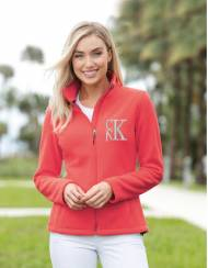 Monogrammed Full Zip Fleece Jacket Without Hoodie Xsmall To 4XL