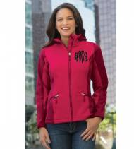 Monogrammed Ladies Hooded Rain Jacket With Colorblocking Colors