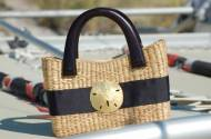 Queen Bea Small Coastal Beverly Zip Basket