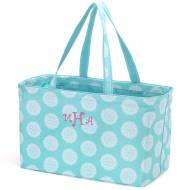Monogrammed Aqua Medallion Ultimate Carry All Tote