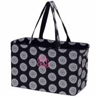 Monogrammed Black Medallion Ultimate Carry All Tote
