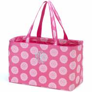Monogrammed Pink Medallion Ultimate Carry All Tote