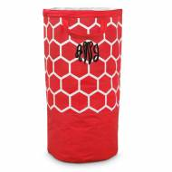 Monogrammed Large Red Bee Line Laundry Bag