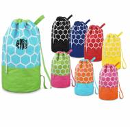 Monogrammed Camp Duffel Bag With Drawstring
