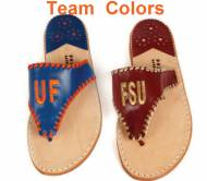 Palm Beach Classic Monogrammed Sandal In College Colors