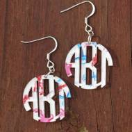 Monogrammed Acrylic Francesca Joy Patterned Earrings