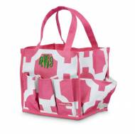 Monogrammed Pink Geometric Beauty Bin Or Shower Caddy