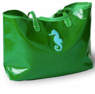 Monogrammed Canvas Seahorse Tote In 3 Colors