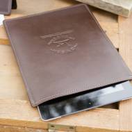Monogrammed Leather Sportsmans IPad Case