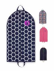 Monogrammed Canvas Garment Bags In New Patterns