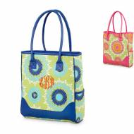Monogrammed Summerlime Tote With Many Pockets 2 Colors