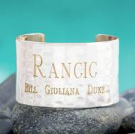 Engraved Family Cuff In Silver And 1.5 Inches Wide